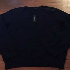 NWT men's medium Kenneth Cole half zip sweater